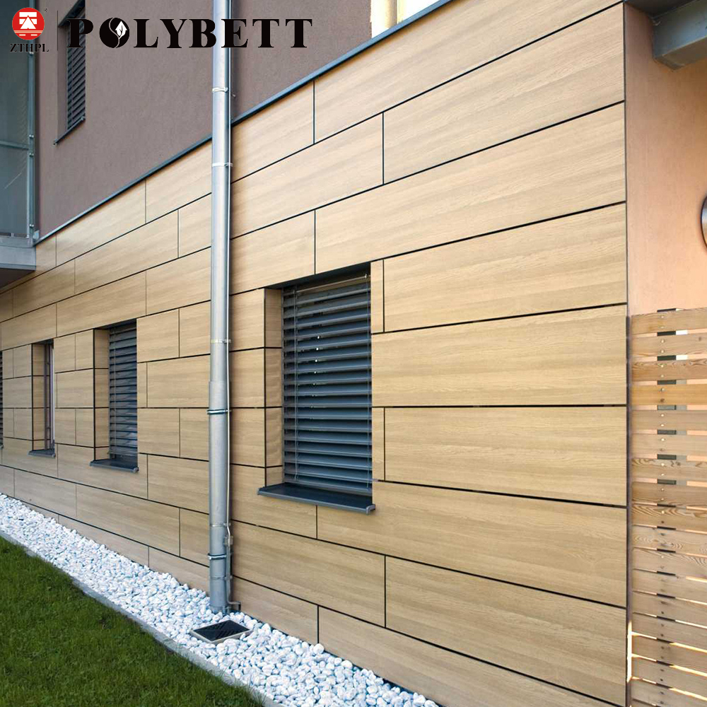 Wood Grain Hpl Compact Phenolic Laminate Plastic Exterior Decorative Wall Panels