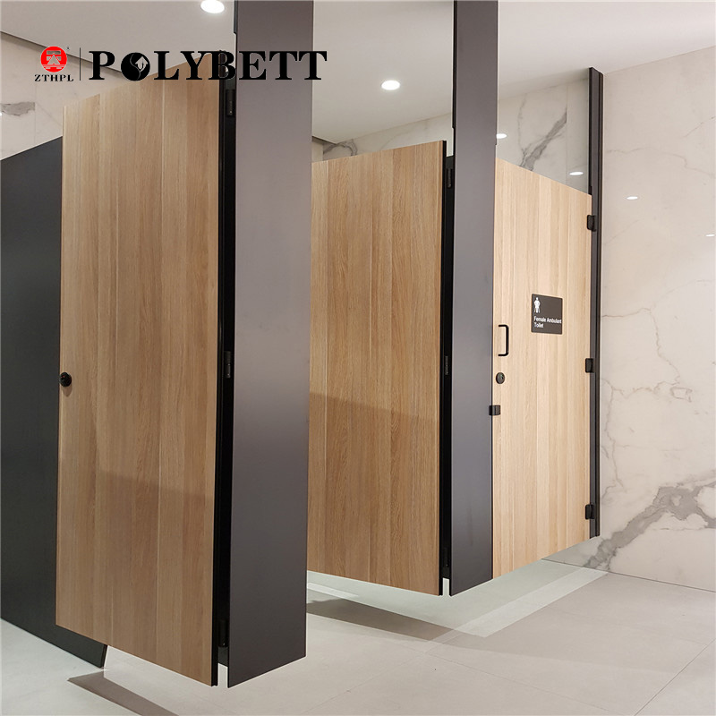 polybett wood texture waterproof 18mm hpl compact phenolic board for toilet partition panels