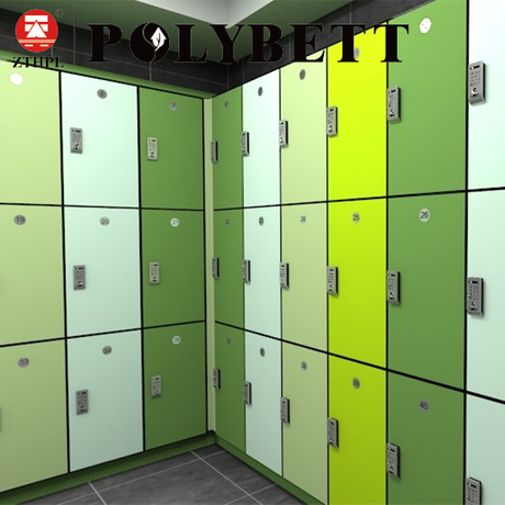 Fireproof Office Fitness Colorful Formica Laminate Compact HPL 3 Door Locker