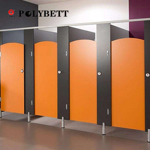 Polybett Colourful Waterproof Phenolic Compact HPL Partition System