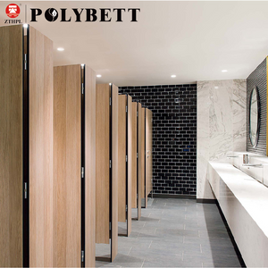 Colorful Office Building Hpl Comapct Toilet Cubicle Partition